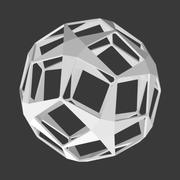 Dodecahedron star 3d model