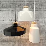 Keramik & Holz Lampe 3d model