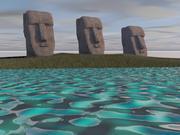 イースター島の彫像 3d model
