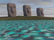 Easter Island Statues 3d model