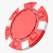 Striped Dice Poker Chip 3d model