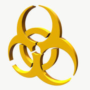 Символ биологической опасности 3d model