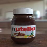Nutella (laag + hoog poly) 3d model