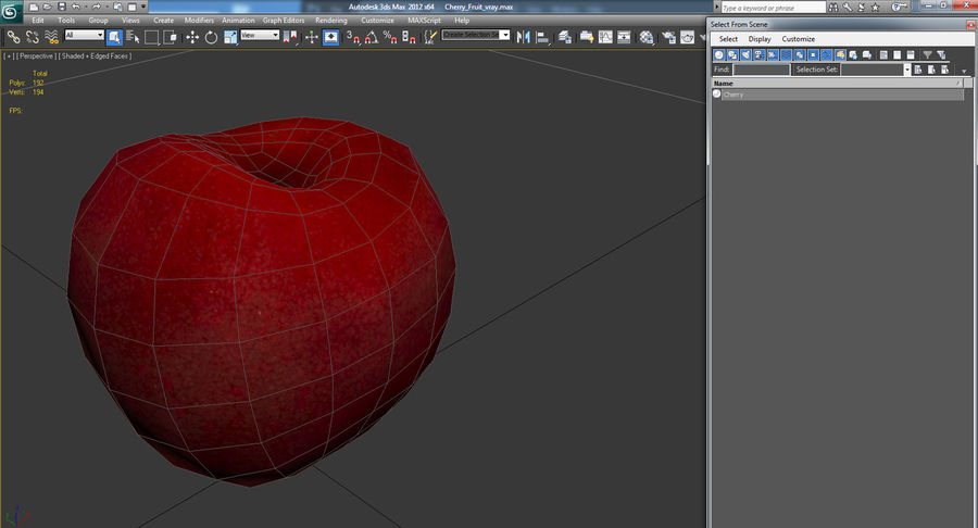 Cherry Fruit royalty-free 3d model - Preview no. 10