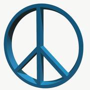 Simbolo di pace 3d model