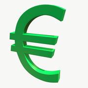 Символ евро 3d model