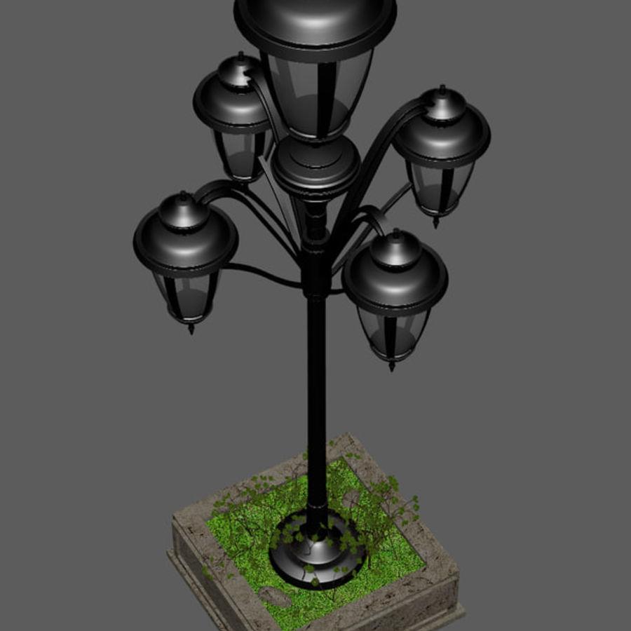 Retro Yağ Lambası royalty-free 3d model - Preview no. 5