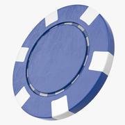 Leerer Poker Chip 3d model