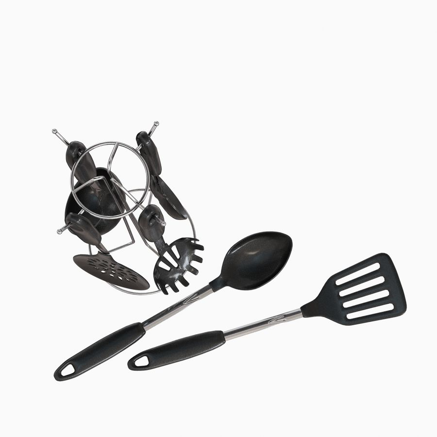 Kitchen Utensils Set accessories royalty-free 3d model - Preview no. 6