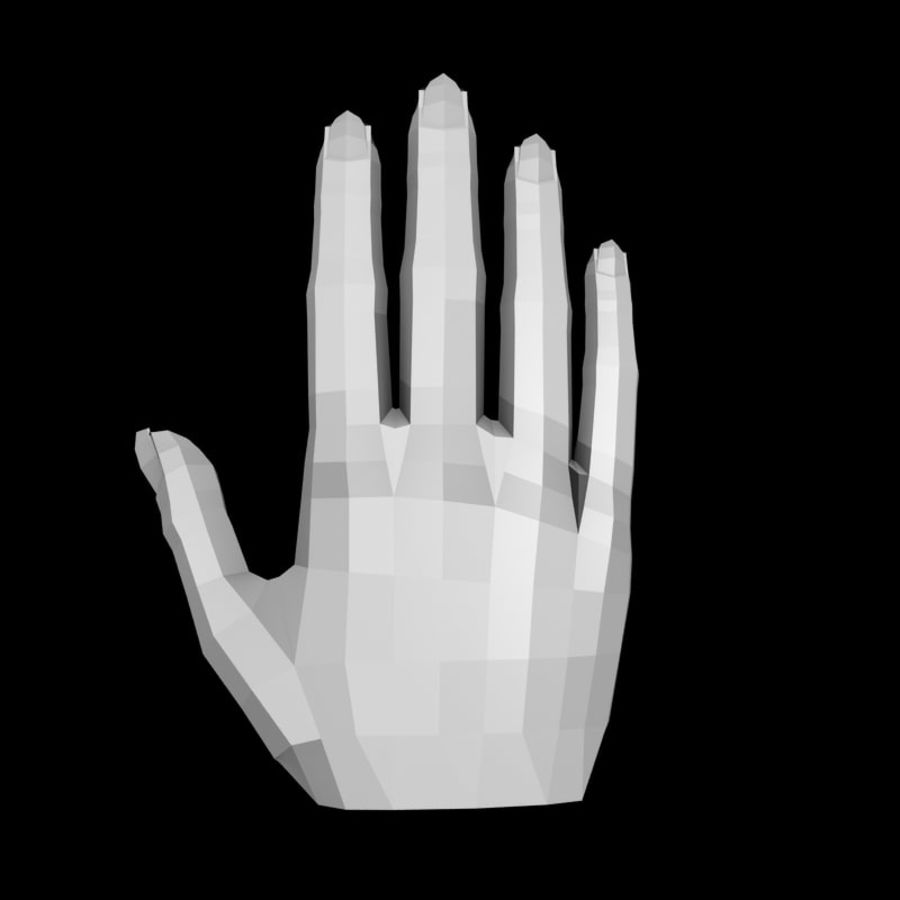 Anatomie de la main low poly royalty-free 3d model - Preview no. 2