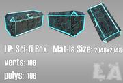 Låg Poly Sci-Fi Box 3d model