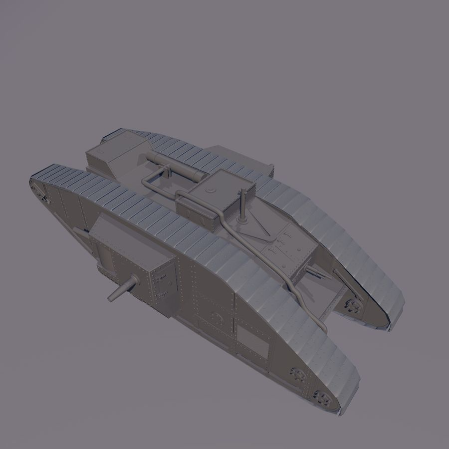 Znak czołgu 1 royalty-free 3d model - Preview no. 2