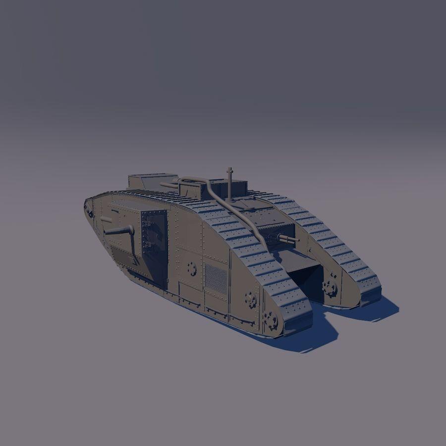 Znak czołgu 1 royalty-free 3d model - Preview no. 1
