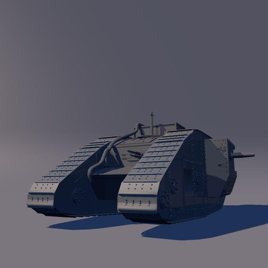Znak czołgu 1 royalty-free 3d model - Preview no. 3