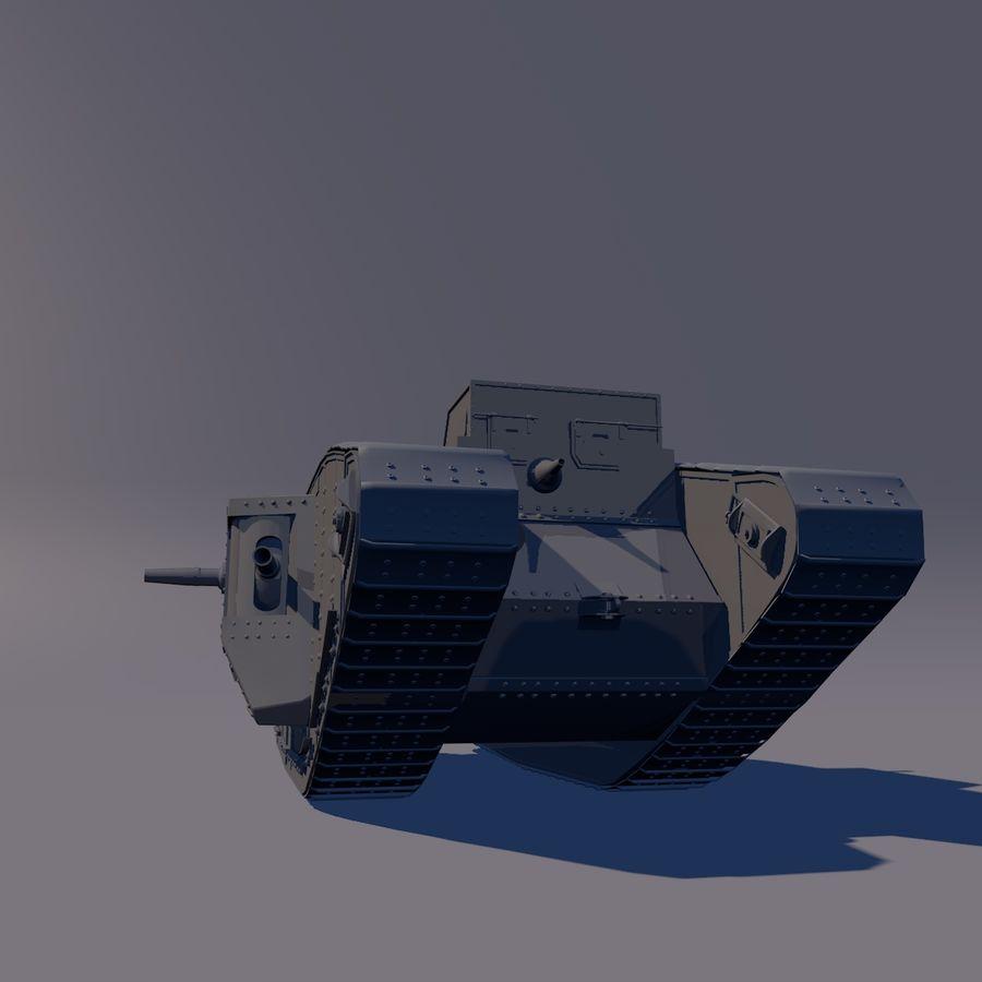 Znak czołgu 1 royalty-free 3d model - Preview no. 4
