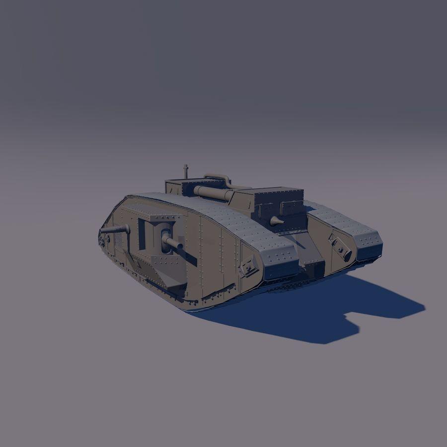 Znak czołgu 1 royalty-free 3d model - Preview no. 5
