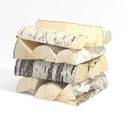 Birch firewood 2 3d model