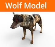 Lupo basso poli 3d model