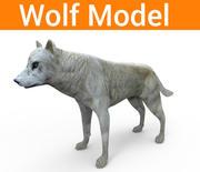 lobo baixo poli 3d model