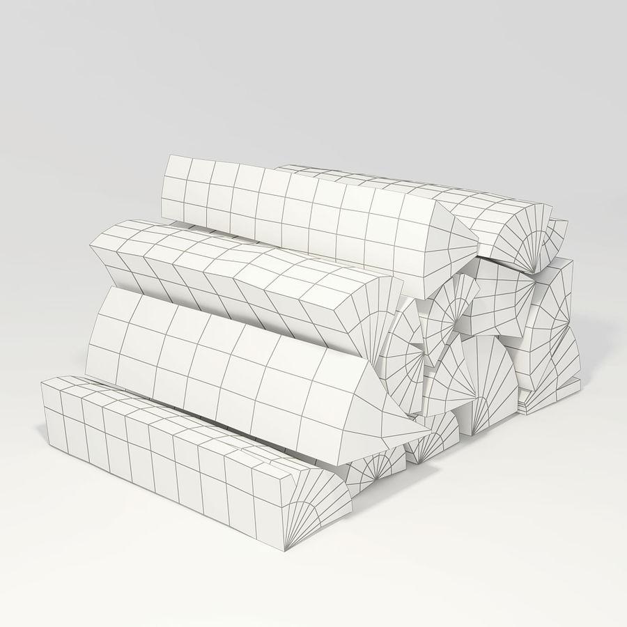 桦木柴 royalty-free 3d model - Preview no. 2
