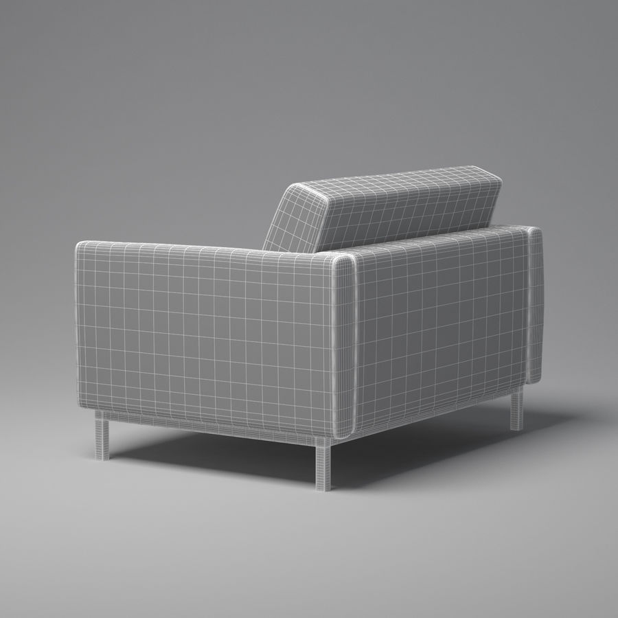 棕色扶手椅 royalty-free 3d model - Preview no. 4