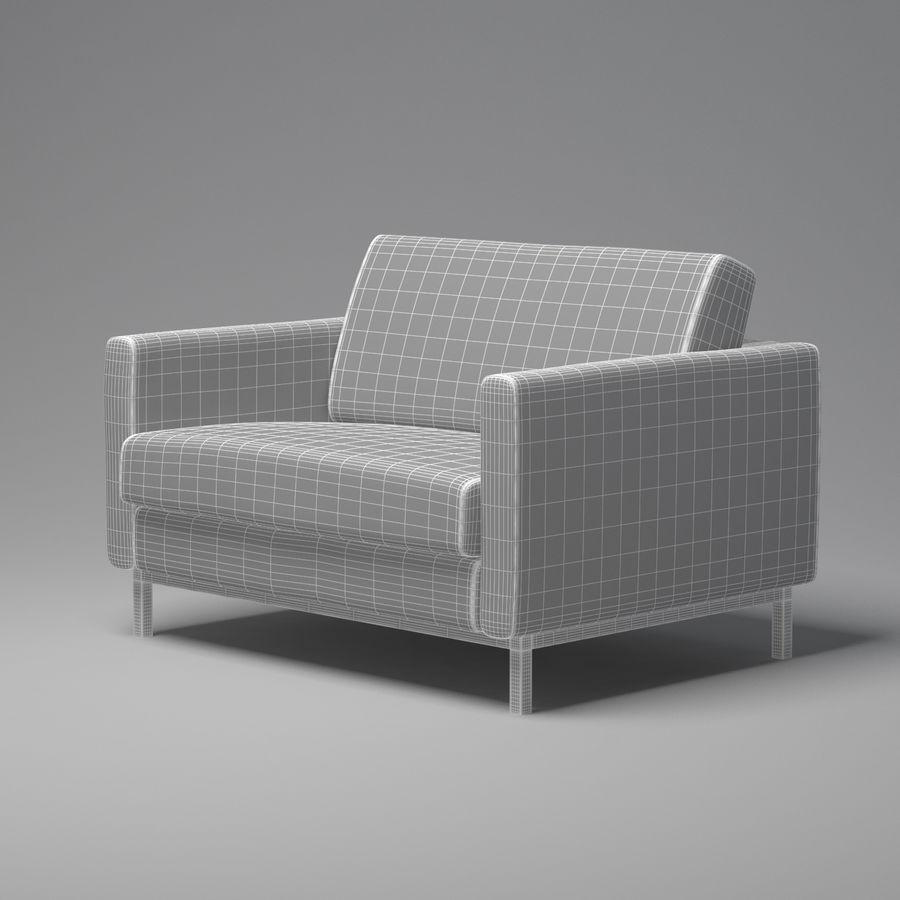 棕色扶手椅 royalty-free 3d model - Preview no. 5