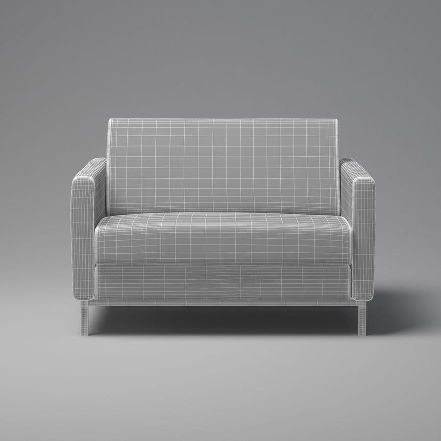 棕色扶手椅 royalty-free 3d model - Preview no. 6