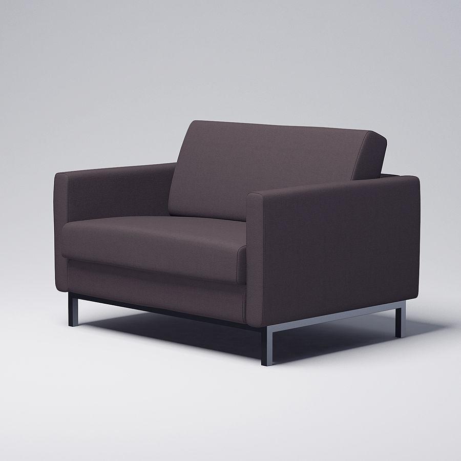 棕色扶手椅 royalty-free 3d model - Preview no. 2