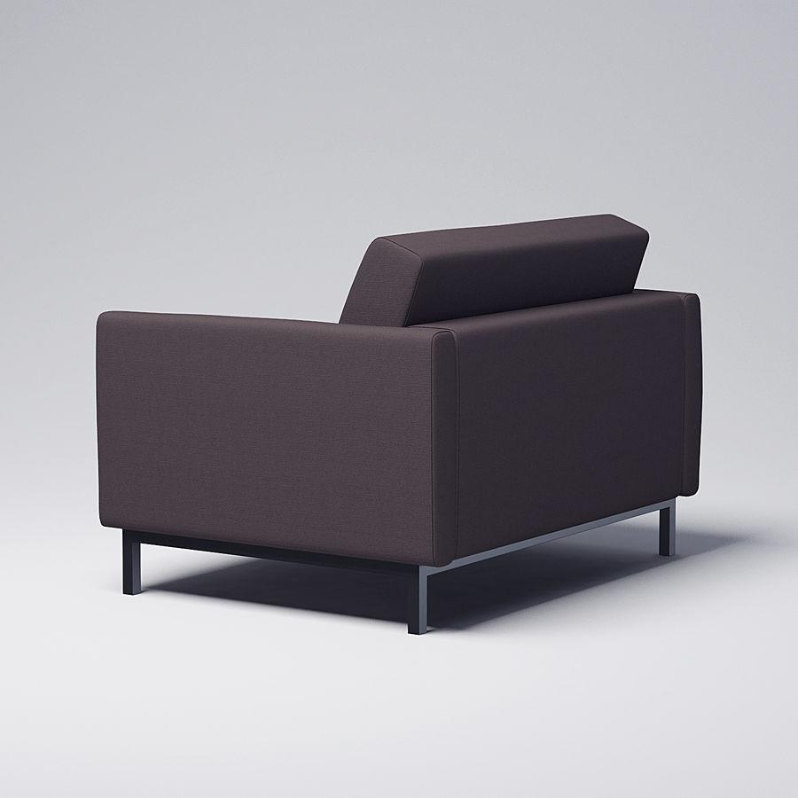 棕色扶手椅 royalty-free 3d model - Preview no. 3