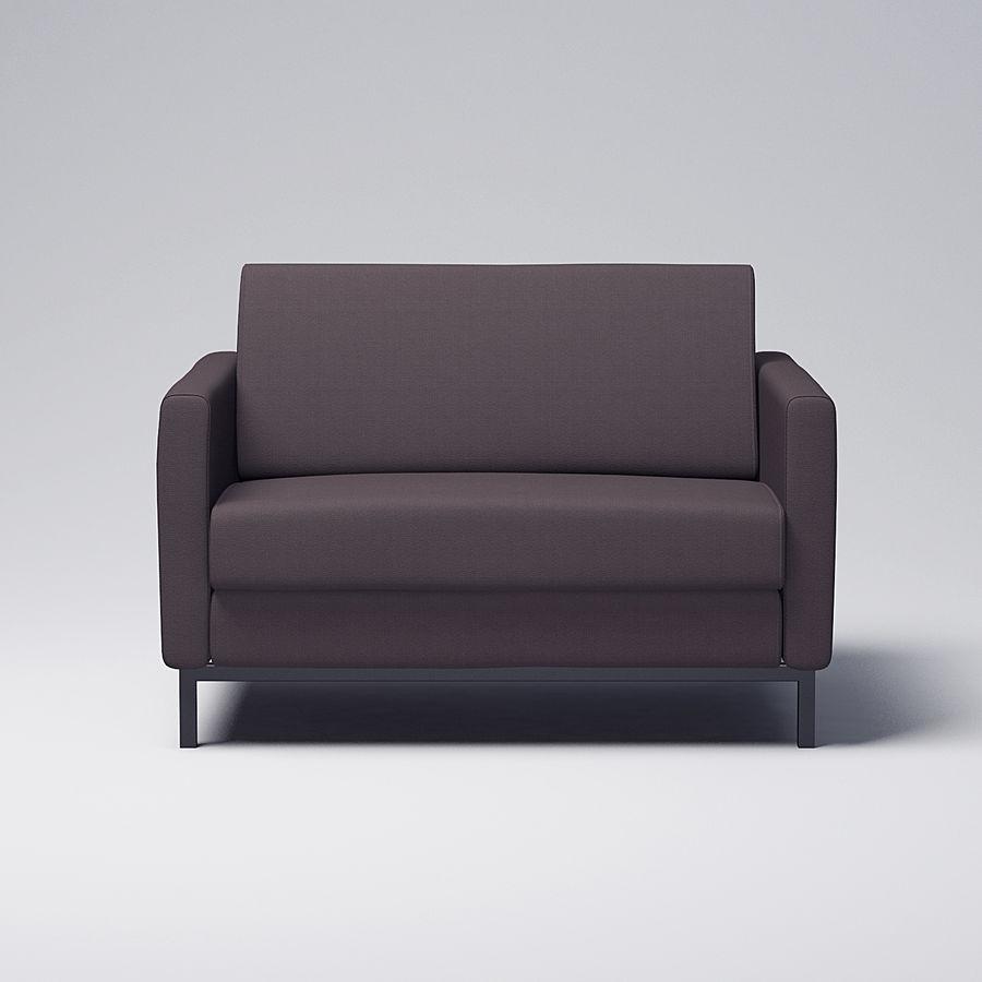 棕色扶手椅 royalty-free 3d model - Preview no. 1