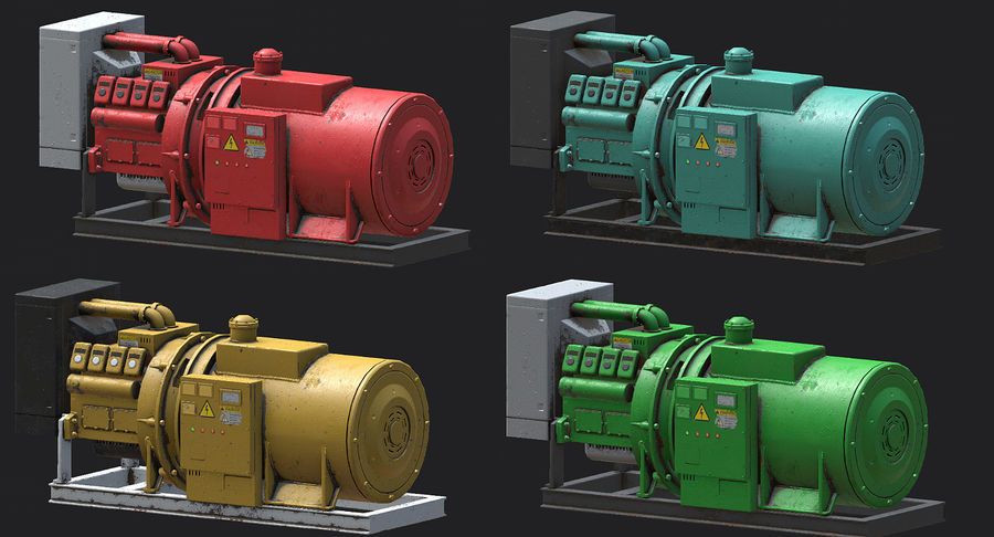 Industrial Generator royalty-free 3d model - Preview no. 4