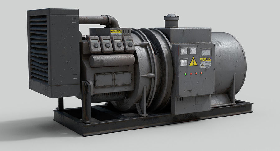 Industrial Generator royalty-free 3d model - Preview no. 1