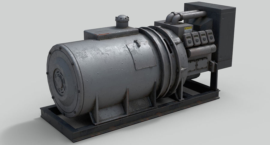 Industrial Generator royalty-free 3d model - Preview no. 5