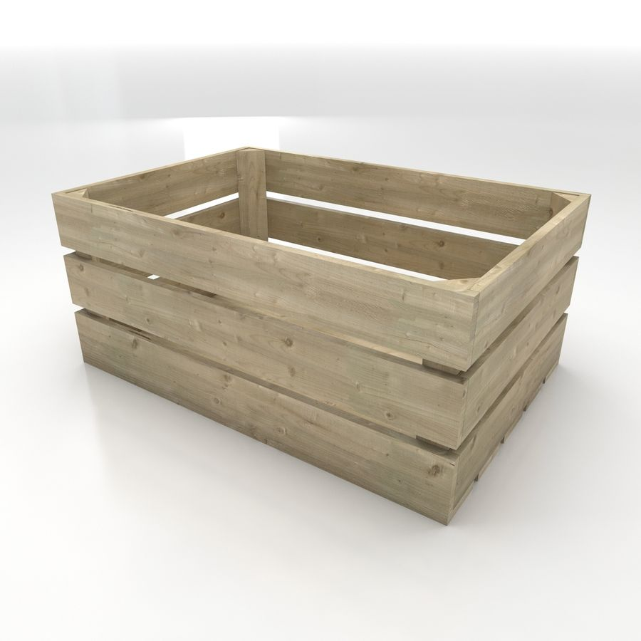 Wooden Crates royalty-free 3d model - Preview no. 7