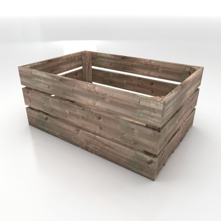 Wooden Crates royalty-free 3d model - Preview no. 9
