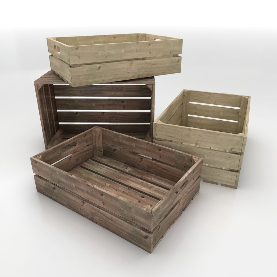 Wooden Crates royalty-free 3d model - Preview no. 1