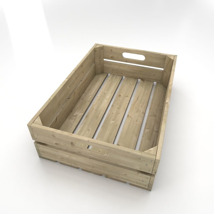 Wooden Crates royalty-free 3d model - Preview no. 3