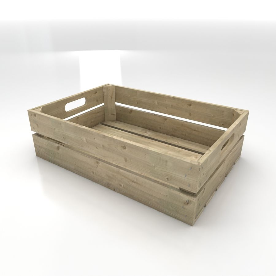 Wooden Crates royalty-free 3d model - Preview no. 2