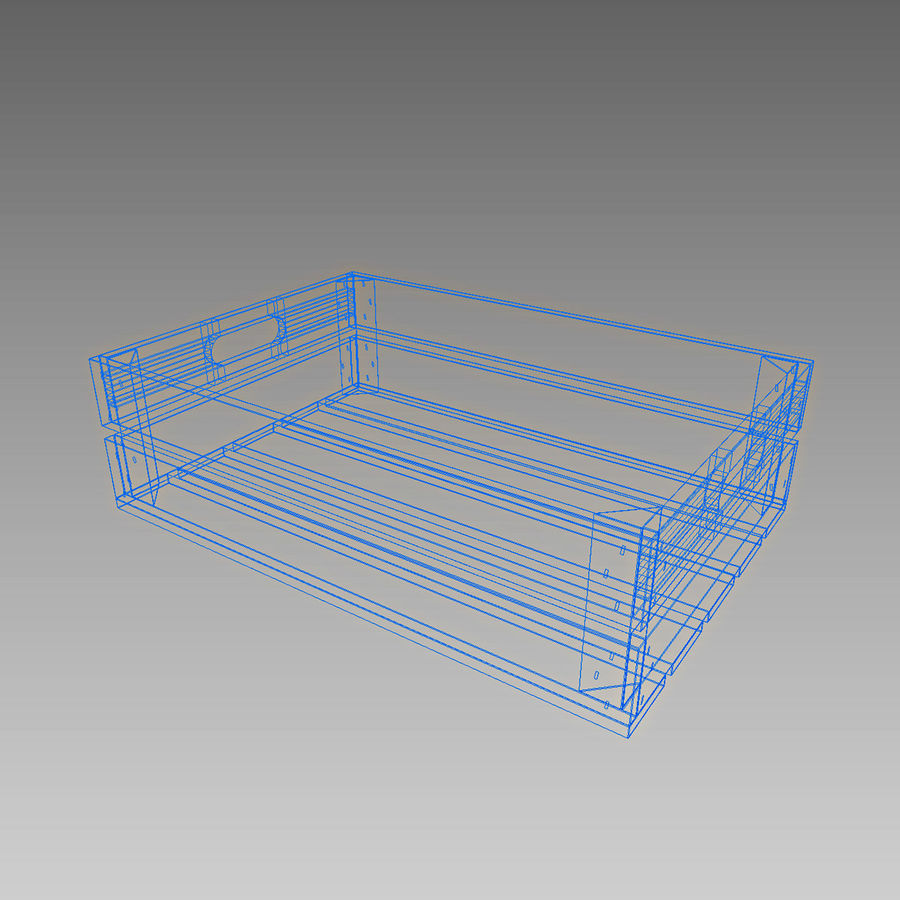 Wooden Crates royalty-free 3d model - Preview no. 11
