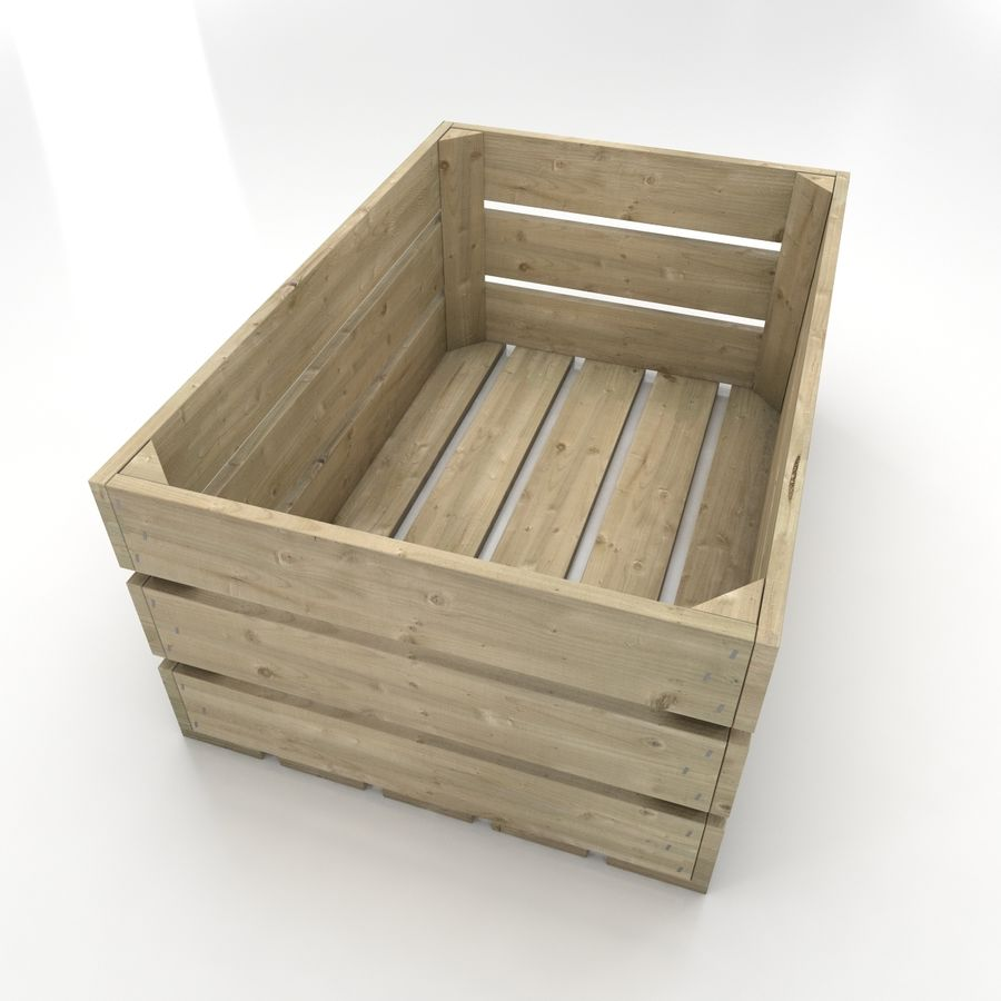 Wooden Crates royalty-free 3d model - Preview no. 6