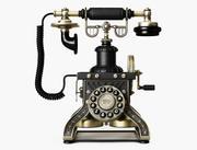 Torre Eiffel 1892 telefone de reprodução 3d model