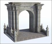 Arco de pilares modelo 3d