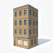 European Apartment Building 3d model