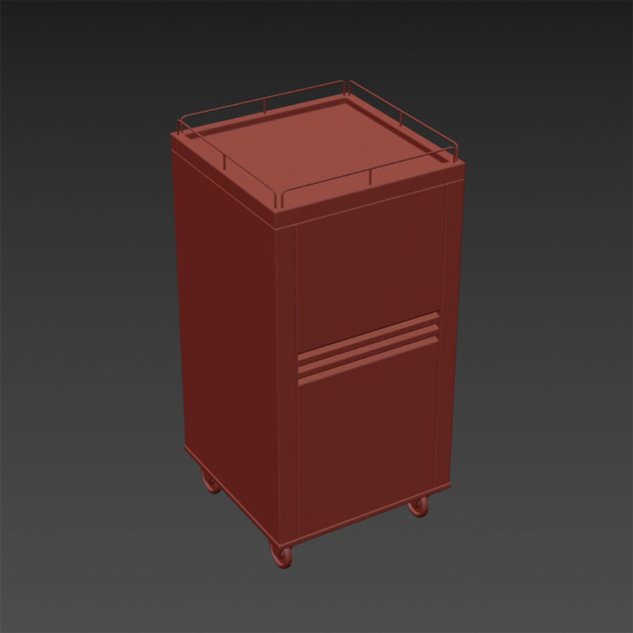 Metall Medical Cart royalty-free 3d model - Preview no. 19