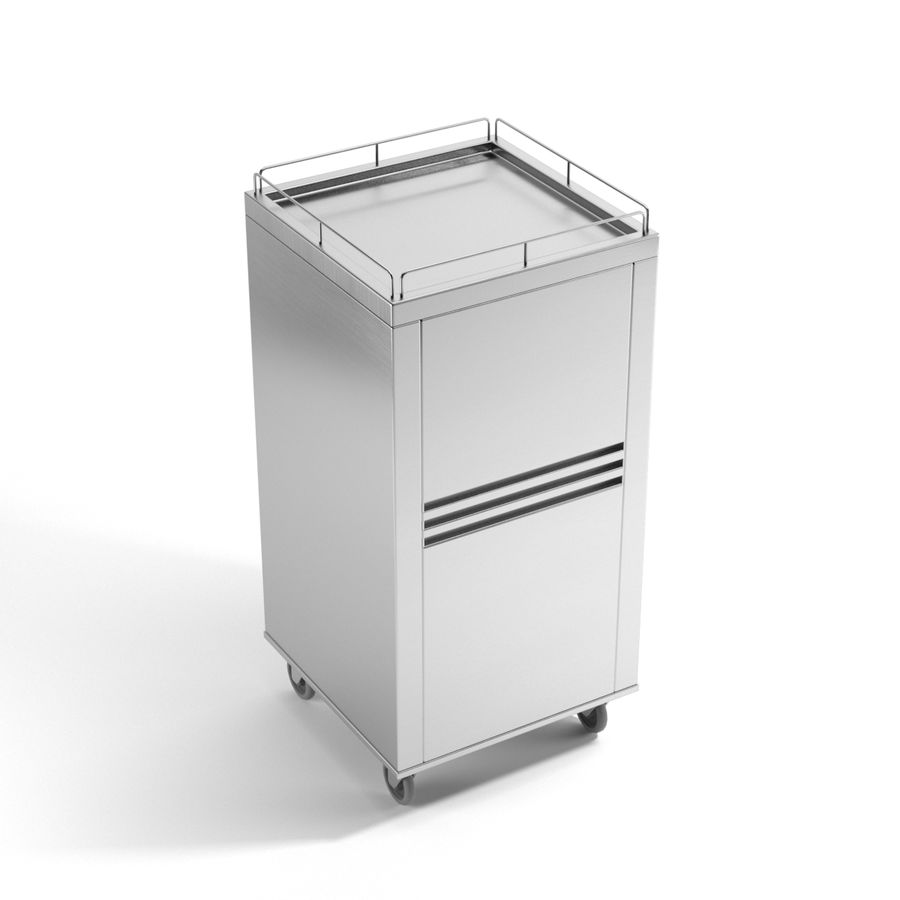 Metall Medical Cart royalty-free 3d model - Preview no. 5