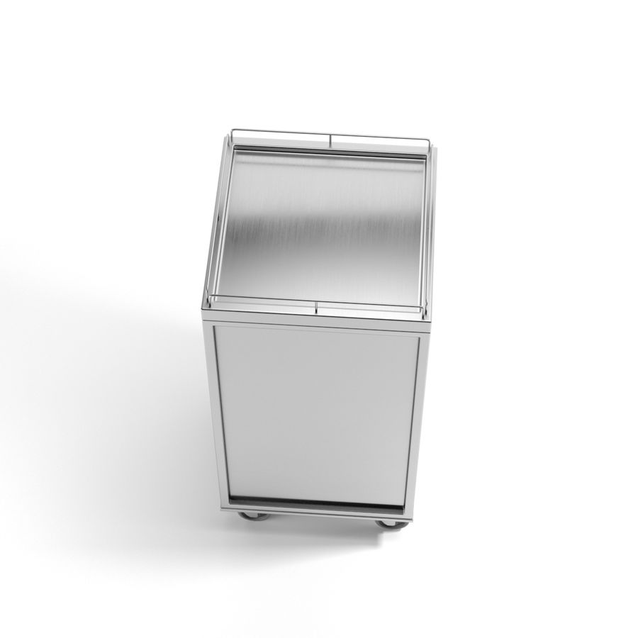 Metall Medical Cart royalty-free 3d model - Preview no. 7