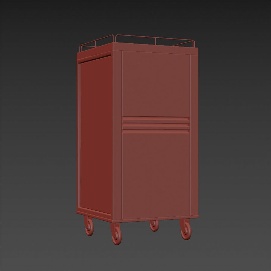 Metall Medical Cart royalty-free 3d model - Preview no. 16