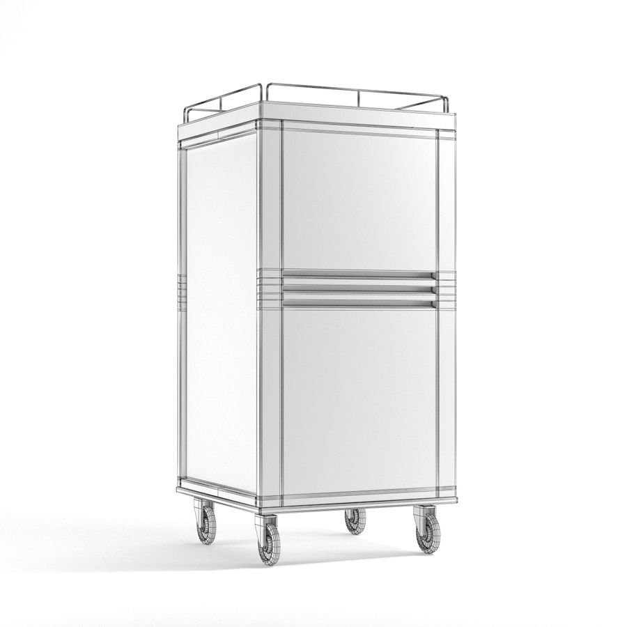 Metall Medical Cart royalty-free 3d model - Preview no. 9