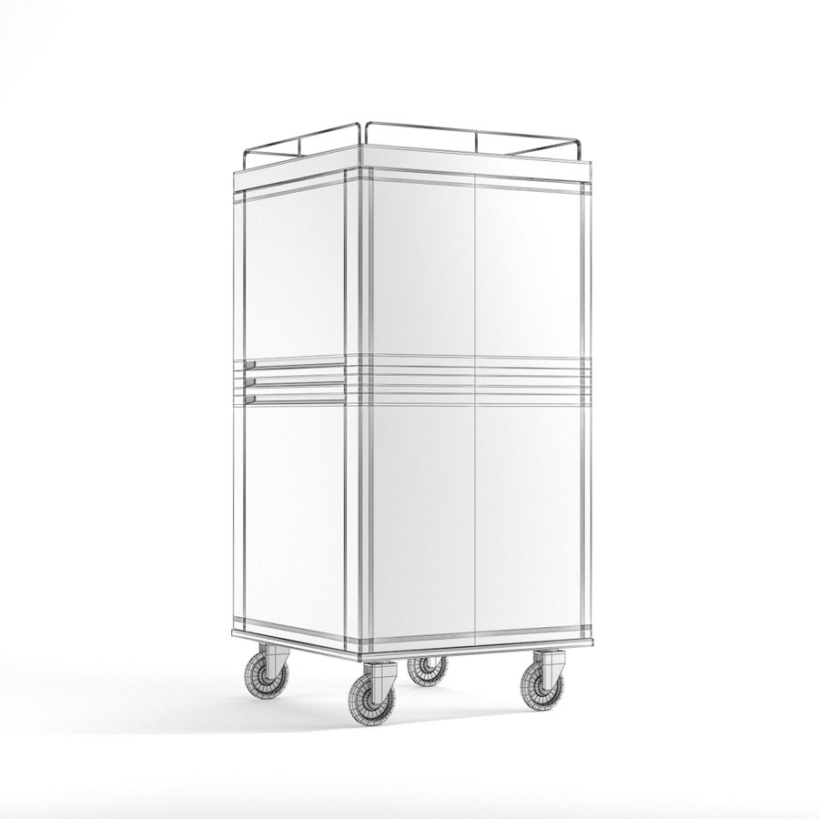Metall Medical Cart royalty-free 3d model - Preview no. 11