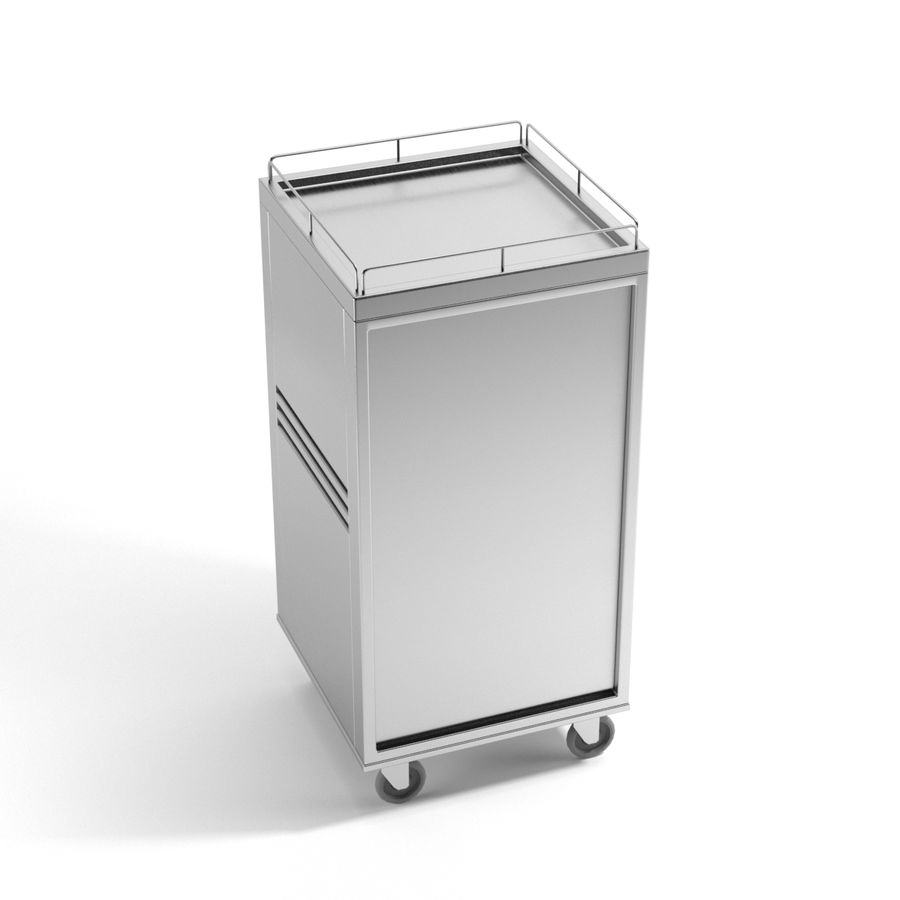 Metall Medical Cart royalty-free 3d model - Preview no. 6
